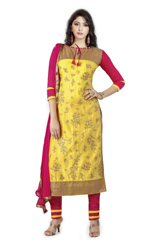 Yellow Color Cambric UnStitched Salwar - VSMASTANI812