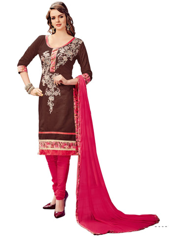 Brown Color Cotton UnStitched Salwar - VSMDFLNT3003