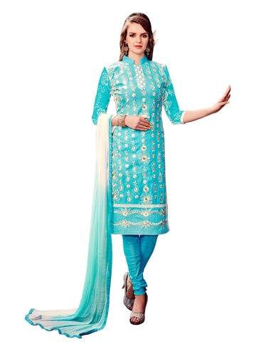 Sky Blue Color Cotton UnStitched Salwar - VSMDLOTS1609