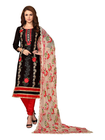 Black  Color Cambric UnStitched Salwar - VSMDMSTNI5004