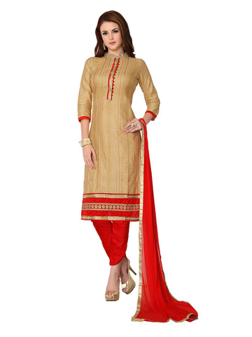 Beige Color Cambric UnStitched Salwar - VSMDMSTNI5005