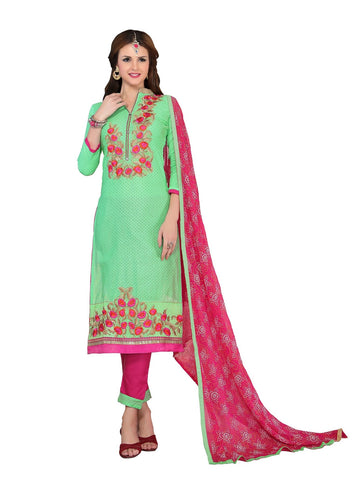 Green  Color Cambric UnStitched Salwar - VSMDMSTNI5009