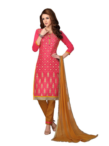 Pink Color Cambric UnStitched Salwar - VSMDMSTNI5010