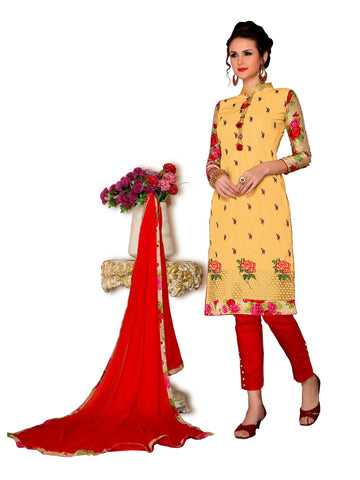 Yellow Color Cambric UnStitched Salwar - VSMDMSTNI5011