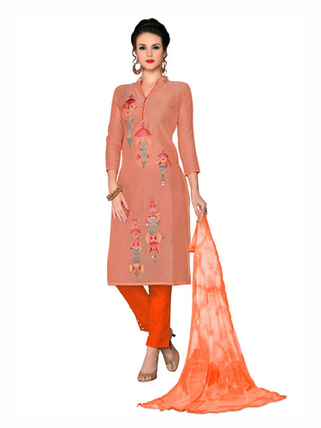 Peach Color Cambric UnStitched Salwar - VSMDMSTNI5012