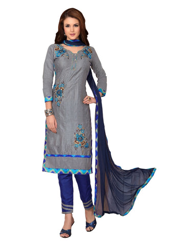 Grey Color Cambric UnStitched Salwar - VSMDMSTNI5013