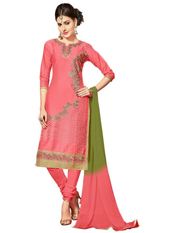 Light Red Color Glaze Cotton Un Stitched Salwar - VSMDNAJ5107