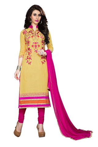 Yellow Color Cotton Un Stitched Salwar - VSMDSNHA1258