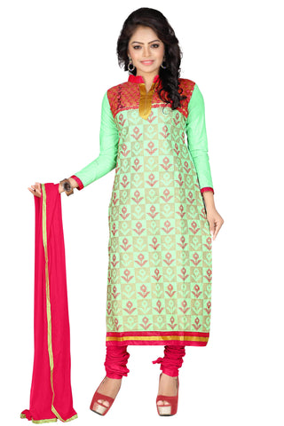 Sea Green Color Cotton UnStitched Salwar  - VSMHR701