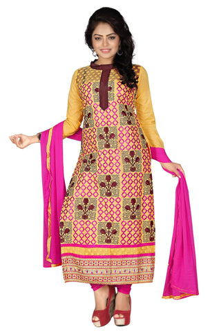 Musturd Color Cotton UnStitched Salwar  - VSMHR702