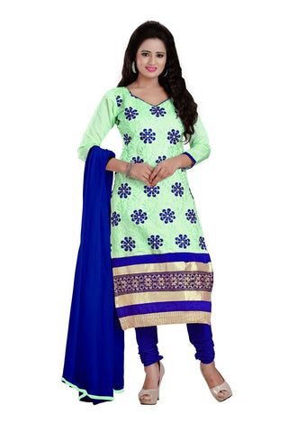 Light Green Color Chanderi UnStitched Salwar - VSNAVYA03