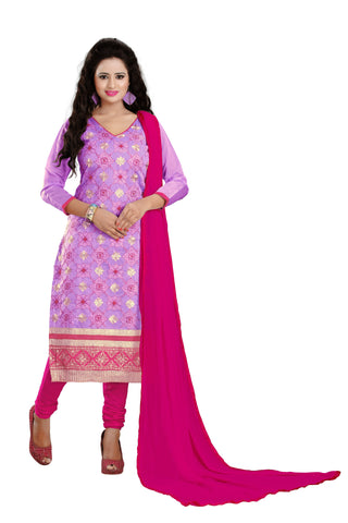 Purple Color Chanderi UnStitched Salwar - VSNAVYA04