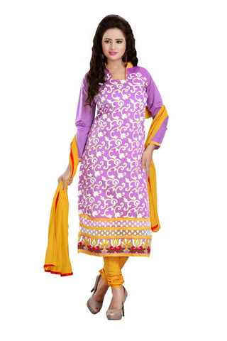 Lavender Color Chanderi UnStitched Salwar - VSNAVYA05