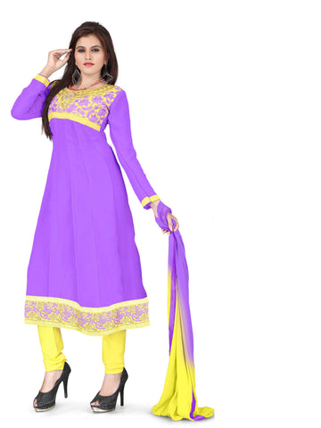 Purple Color Georgette UnStitched Salwar - VSSAKHI08