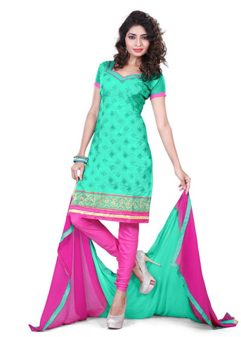 Sea Green Color Chanderi UnStitched Salwar - VSSHB12