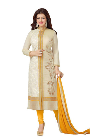 Off White Color Cotton UnStitched Salwar - VSSNS327