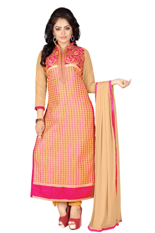 Chiku Rani Color Cotton UnStitched Salwar  - VSSPNVLY121