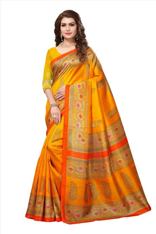 Yellow Color Art Silk Saree - VSSPSNPR1502B