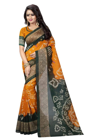 Mustard Color Art Silk Saree - VSSPSNPR1503A