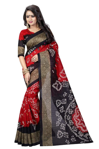 Red Color Art Silk Saree - VSSPSNPR1503B
