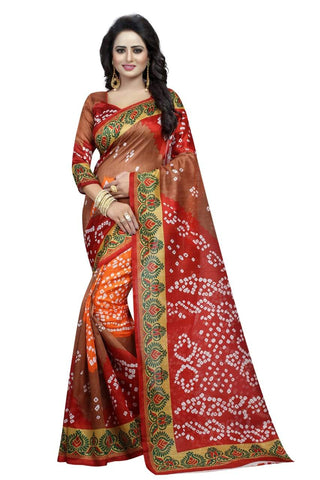 Brown Color Art Silk Saree - VSSPSNPR1504A