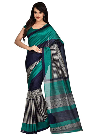 Turquoise  Color Art Silk Saree - VSSPSNPR1505A