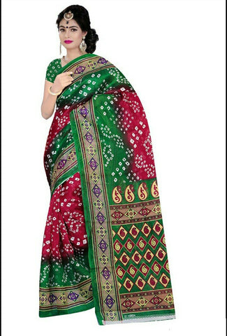 Multi Color Art Silk Saree - VSSPSNPR1506B