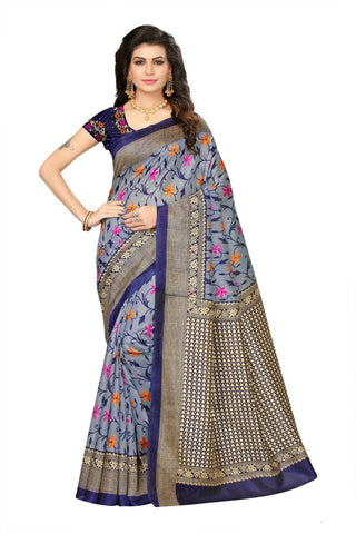 Sky Blue Color Art Silk Saree - VSSPSNPR1508