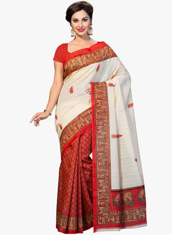 Red Color Art Silk Saree - VSSPSNPR1509