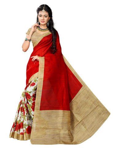 Red Color Art Silk Saree - VSSPSNPR1510