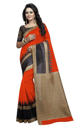 Orange Color Art Silk Saree - VSSPSNPR1512