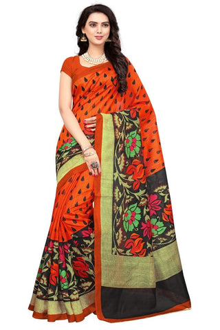 Orange Color Art Silk Saree - VSSPSNPR1513