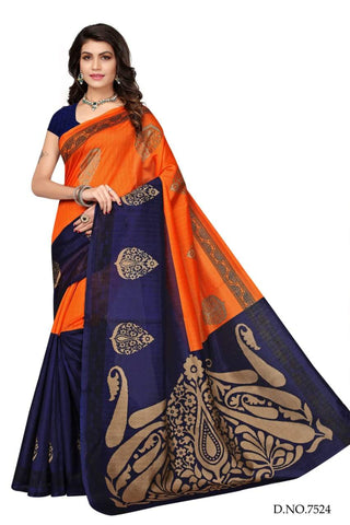 Orange Color Art Silk Saree - VSSPSNPR1515