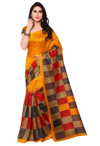 Yellow Color Art Silk Saree - VSSPSNPR1516