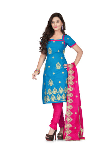 Blue Color Cotton UnStitched Salwar - VSSYN02