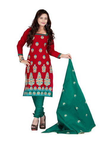 Maroon Color Cotton UnStitched Salwar - VSSYN08
