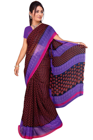 Black Color Georgette Saree - VSVDBLJK2101
