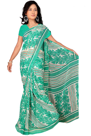 Sea Green Color Georgette Saree - VSVDBLJK2112