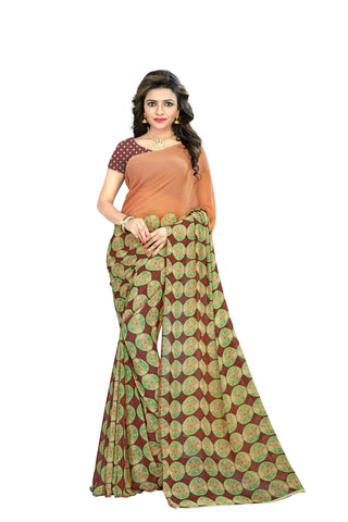 Green Color  Georgette Saree - VSVDKML2230