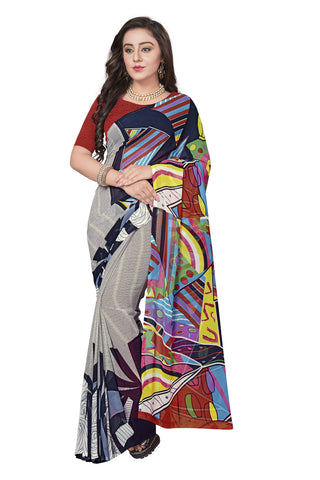 Multi Color  Georgette Saree - VSVDKML2263