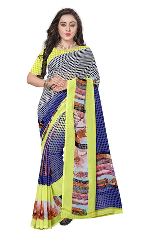 Blue Color  Georgette Saree - VSVDKML2264