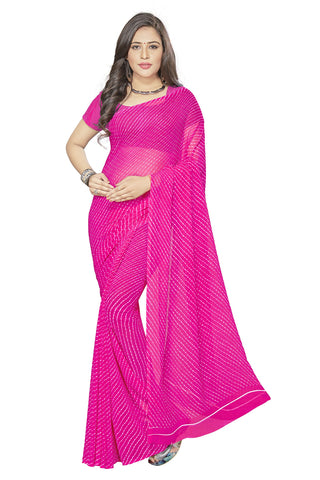 Pink Color  Georgette Saree - VSVDKML2265