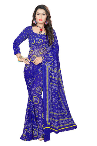 Blue Color  Georgette Saree - VSVDKML2267