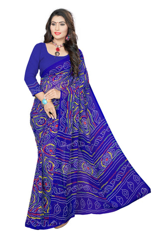 Blue Color  Georgette Saree - VSVDKML2268
