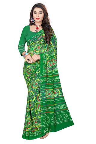 Green Color  Georgette Saree - VSVDKML2269