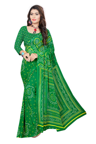Green Color  Georgette Saree - VSVDKML2270