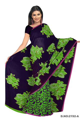 Black Color Georgette Saree - VSVDKRSM2192A