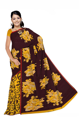 Black Color Georgette Saree - VSVDKRSM2192B