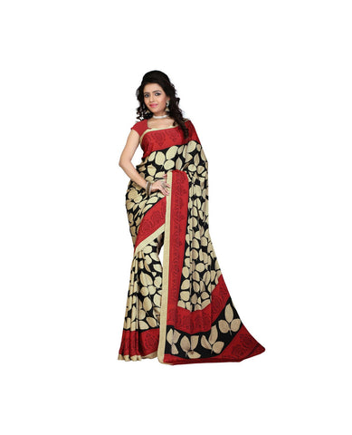 Black Color Crepe Saree - VSVDSUNY277A