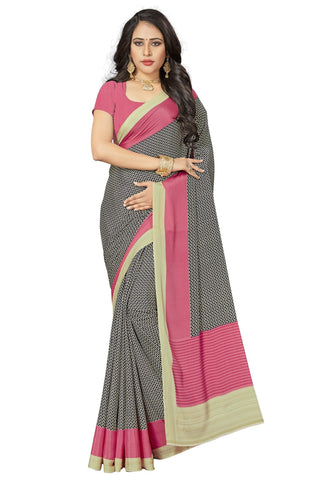 Peach Color Crepe Saree - VSVDSUNY721A